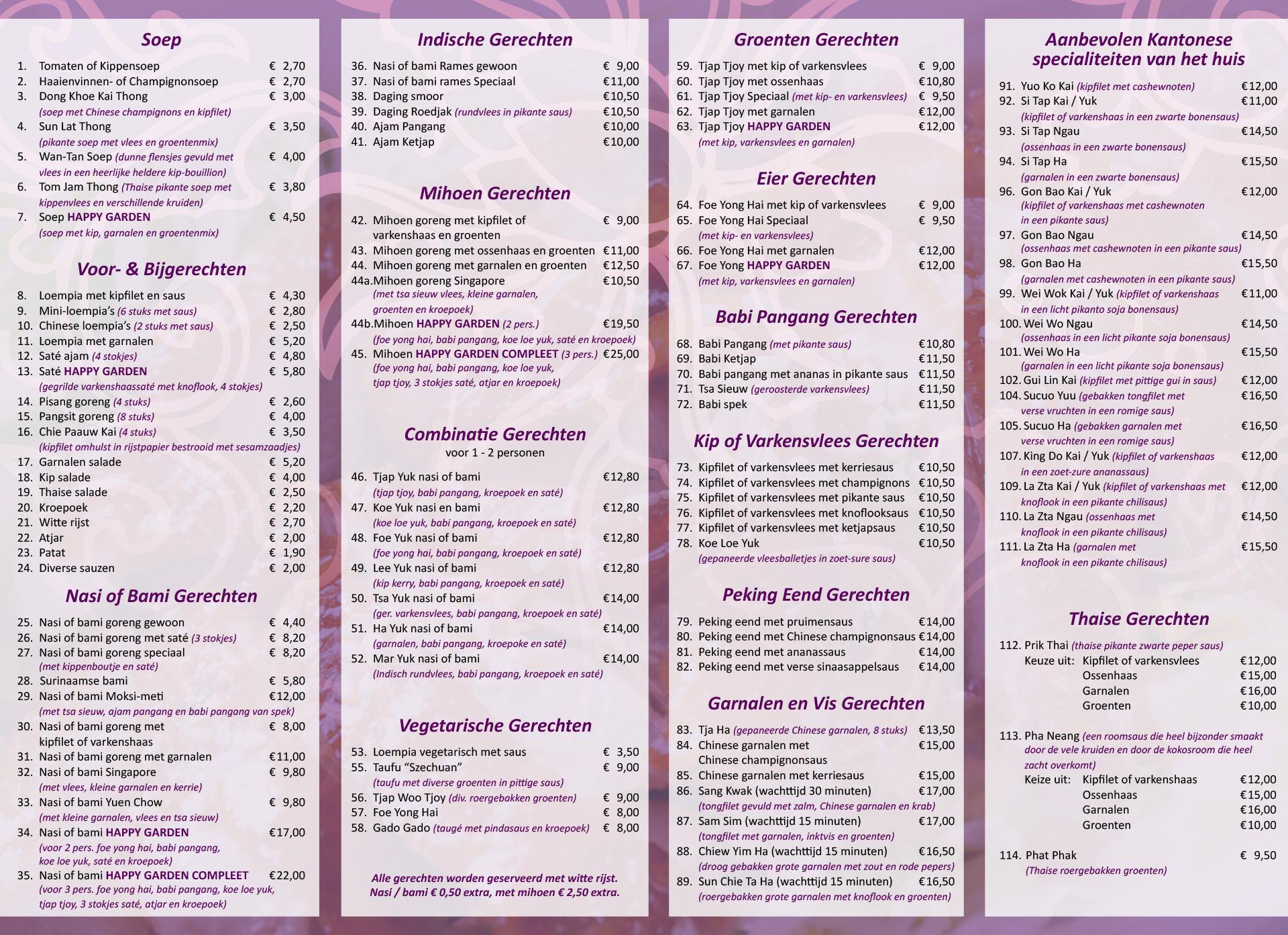 nieuw happy garden chinees indisch thais specialiteiten